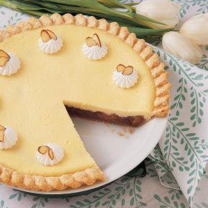 Cream Cheese Rhubarb Pie Recipe via Taste of Home. Love me some rhubarb. Always.: