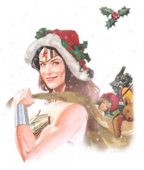Wonder Woman Christmas - this is how I feel when the last present is wrapped and under the tree.