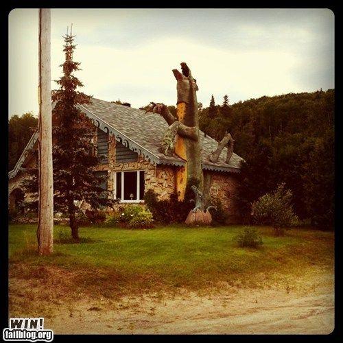 Love the dragon chimney!