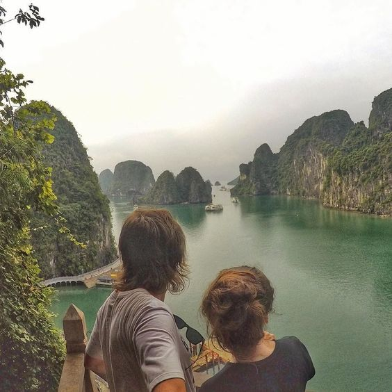 Halong Bay must be the most beautiful place I have ever been - absolutely amazed #halongbay #GoPro #backpacking . . . . . #goprohero4 #couple #backpacker #backpackerlife #travelgoals #relationshipgoals #goprooftheday #photooftheday #wanderlust #travel #travellingtogether #travellingcouple #globetrotter #getbackpacking #hero_adventure #goprowill #travellers_experience #goproeracademy #herobyhero #goprotravelsz #goprostyles #go_herolife #GoWorldWide #selfiepelomundo #gproworldwide #selfiegopro…
