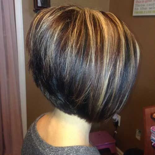 Stacked Inverted Bob With Highlights Hair Styles Stacked Hairstyles Short Hair Styles