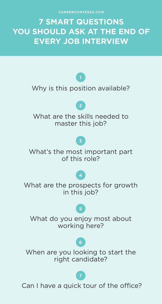 7 Smart Questions You Should Ask at the End of Every Job Interview - restaurant interview questions