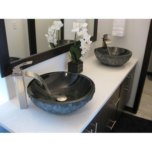 Handwash Sink Bathroom Absolute Stone Circular Vessel Bathroom