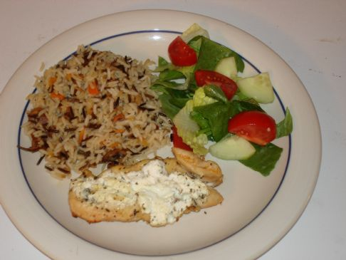Goat cheese stuffed chicken (lame picture)