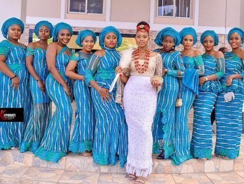 Last summer Aso Ebi Collection for You - Hairstyles 2u | African bridesmaid  dresses, African bride, African wedding
