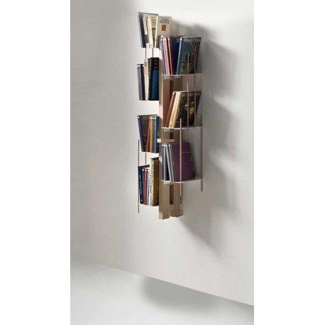 Zia Veronica libreria sospesa a muro in legno e metallo 65 cm  low ...