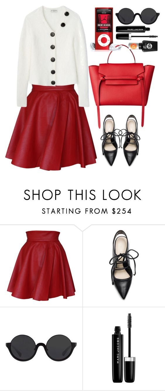 """""""BCBGMAXAZRIA"""" by thestyleartisan ❤ liked on Polyvore featuring Funlayo Deri, 3.1 Phillip Lim, Sally Hansen, Marc Jacobs and skaterskirt"""
