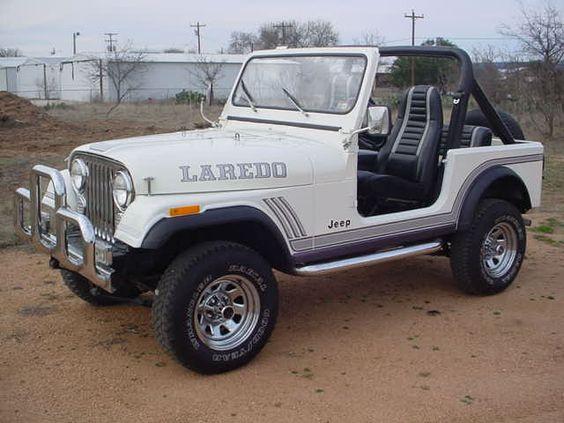 White CJ-7 Laredo