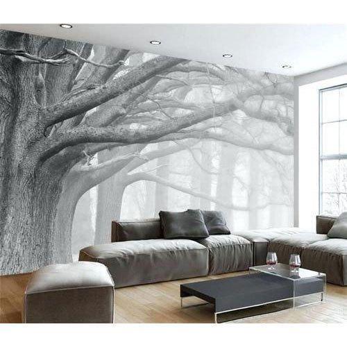 Idea For Wall Behind Vanity Mirror 3d Wallpaper Living Room Wallpaper Living Room Design Living Room Wallpaper