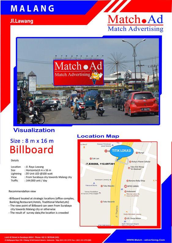 Malang - Billboard 8x16, Jl. Raya Lawang (Surabaya to Malang)