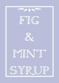 #PAMK Free Printable Fig & Mint Syrup
