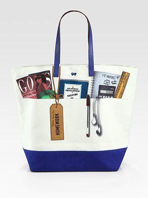 Anya Hindmarch  Canvas Homework Tote Bag $295
