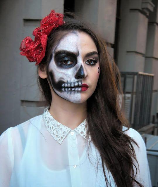 cute half skull makeup wwwpixsharkcom images