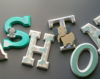 lettres murales personnalisées/ by MissiCreation on Etsy