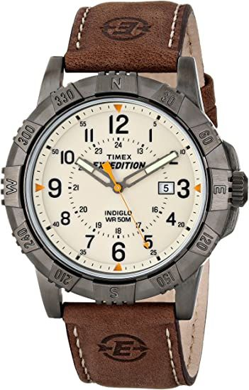 Buy Timex Men's T49990 Expedition Rugged Metal Brown/Natural Leather Strap Watch and other Wrist Watches at Amazon.com. Our wide selection is eligible for free shipping and free returns.