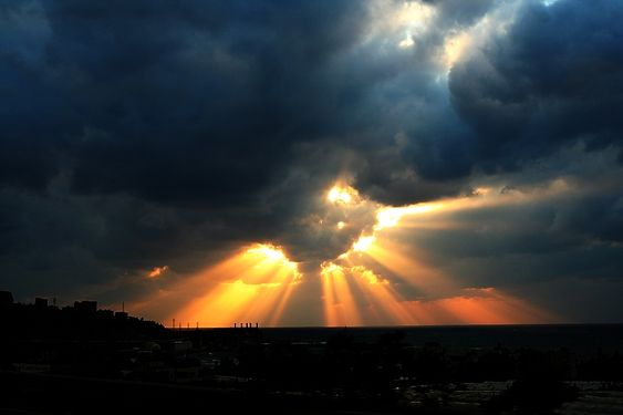 Sun Rays by Hamrani on deviantART: Earths Beauty, Sky Lightning Sunset Pics, Beautiful Places, Sunrise Sunset, Fiery Sunrays, Mother Earth, Nature Travel Places, Natures Beauty, Sun Rays