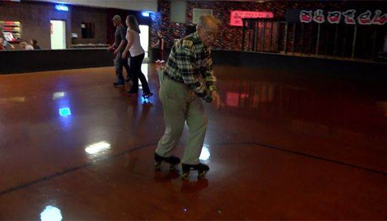 He laces up twice a week and takes the floor by storm at Skateland USA in Hickory.