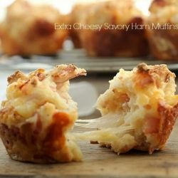 Extra Cheesy Savory Ham Muffins - feastie.com - Google Search