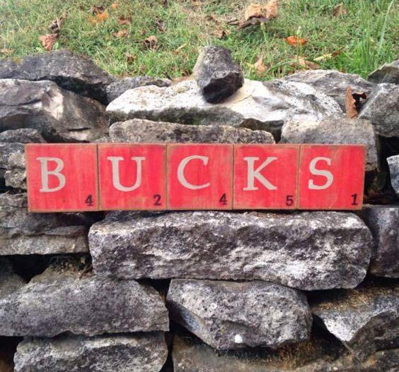 BUCKS Scrabble Wall Art