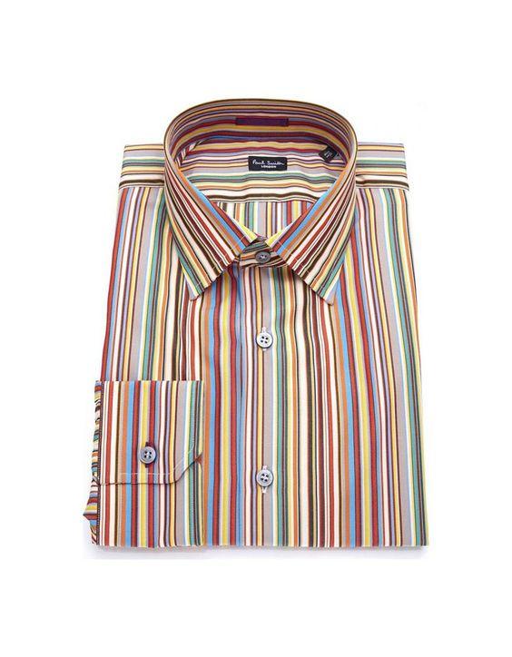 Camisa Paul Smith manga longa com o listrado característico da marca. (Tontom)