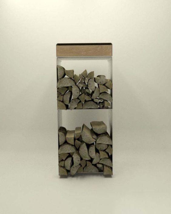 Design Metallmoebel Brennholz-Aufbewahrung Kaminholz-Regal aus - gartendeko aus polen