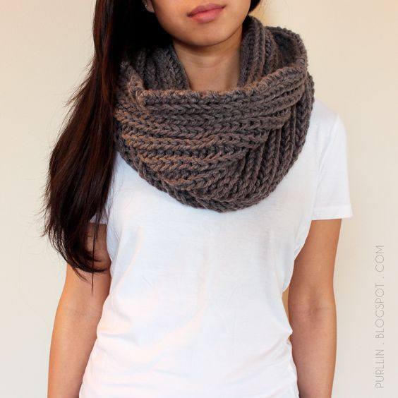 Quick Knit Infinity Scarf Pattern : An easy & quick beginner knitting pattern: The Textured November Infinity...