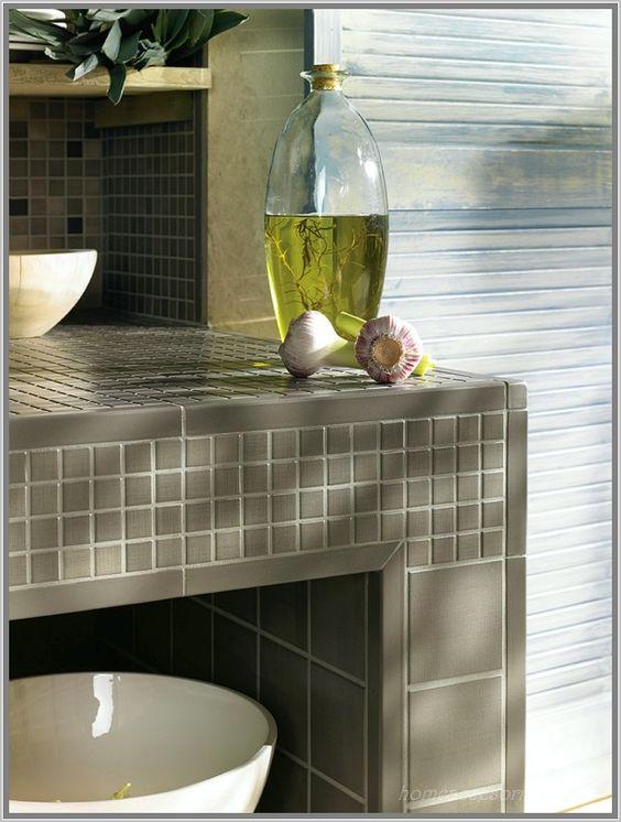 Anthrazit Bad Mit Mosaik Individuelle Küchenfliesen Von Jasba ... Mosaik Badezimmer Anthrazit