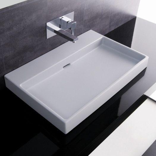 Ceramica I Urban Ceramic Ceramic Rectangular Vessel Bathroom Sink