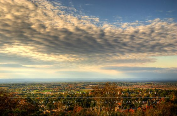 Rockville and Ellington, CT as seen from the top of Fox Hill in Vernon, CT #FallinCT Center of CT Photo Contest