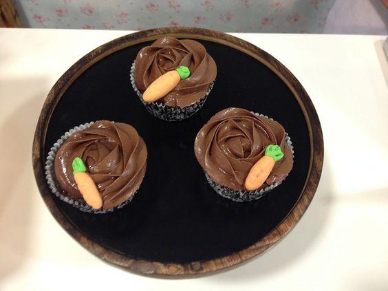 Cupcakes de chocolate y zanahoria