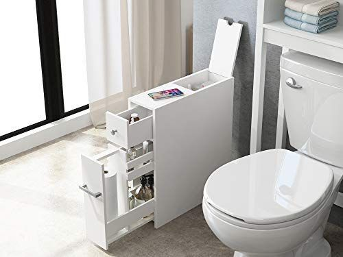 Amazon Com Spirich Home Slim Bathroom Storage Cabinet Free