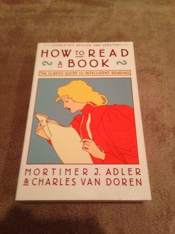 how to read a book adler amp van doren paperback book very good