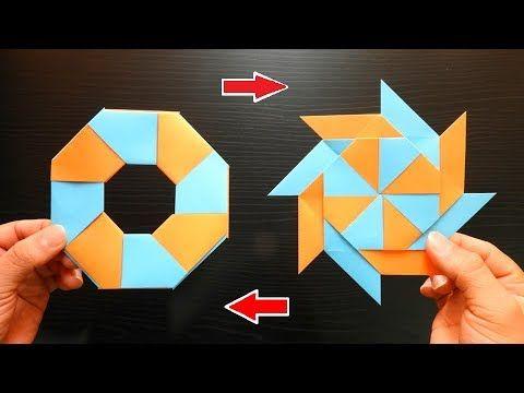 Como Hacer Una Estrella Ninja Transformable Origami De Papel Facil De Hacer Youtube Estrellas De Origami Manualidades De Pokemon Tarjetas De Origami