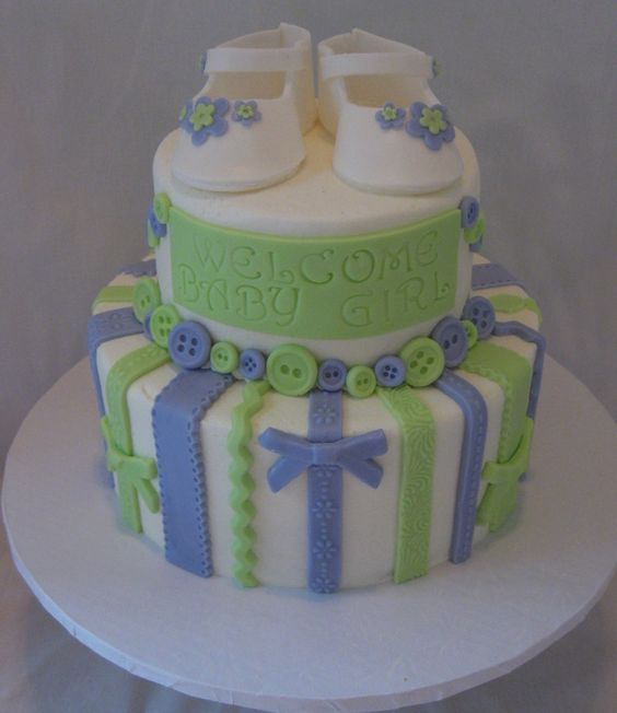 Wilton Baby Shower Cake Images : Wilton Baby Shower Cakes baby bootie shower cake   Baby ...