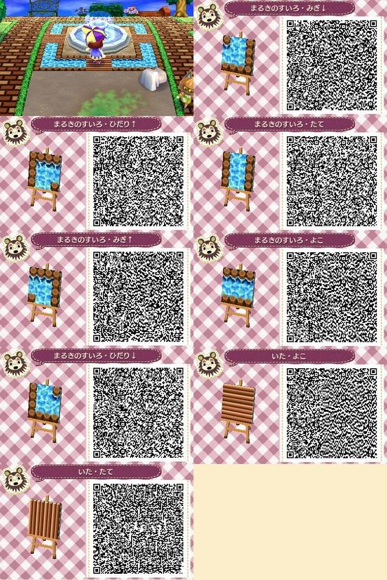 Animal crossing water paths ac qr paths pinterest for Floor qr codes new leaf