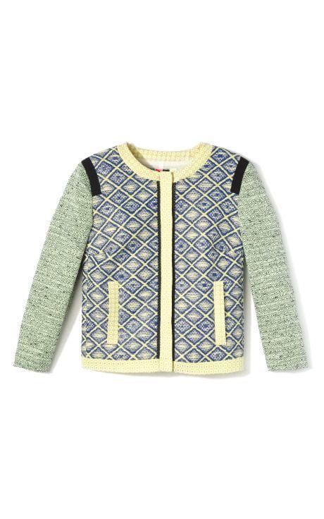 MSGM Raffia Diamond Patchwork Jacket