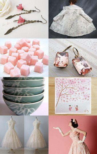 Sakura by  Natalie Wilkinson from MaisonetteTextiles        --Pinned with TreasuryPin.com