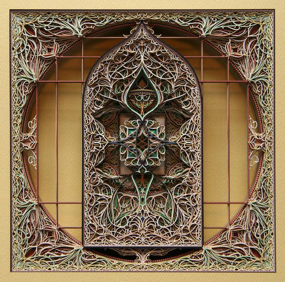 Stained glass paper art by fine artist Eric Standley