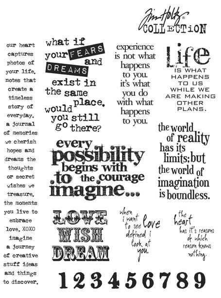 Stampers Anonymous - Tim Holtz - Cling Mounted Rubber Stamp Set - Stuff to Say at Scrapbook.com $25.46