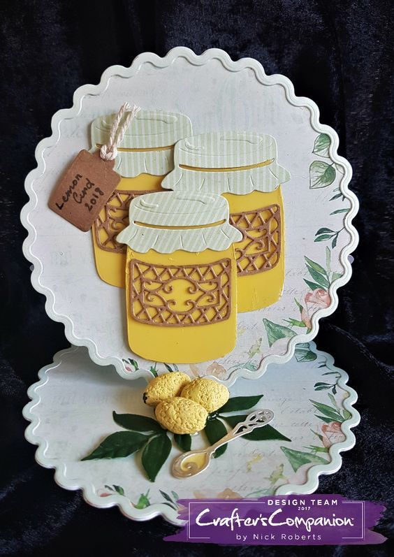 Easel Card made using Sara Signature Vintage Tea Party Collection – Designed by Nick Roberts #crafterscompanion #ccgemini
