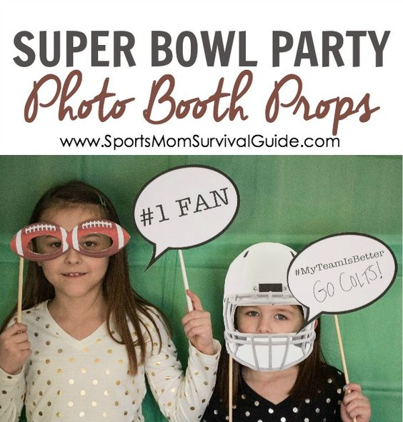 The BIG GAME is coming up and that means a lot of parties! Get 4 FREE Super Bowl Party Photo Booth props and set up a fun area for the kids!: