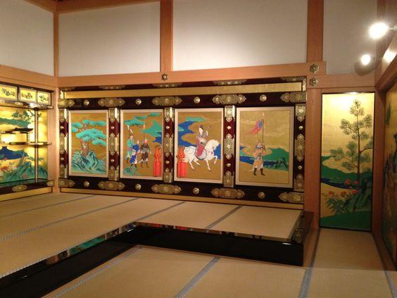 Inside Kumamoto Castle, Japan.