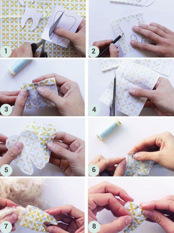 DIY tuto pochette à dents de lait - couture - sewing milk tooth - coussin - tutoriel - enfants - kids