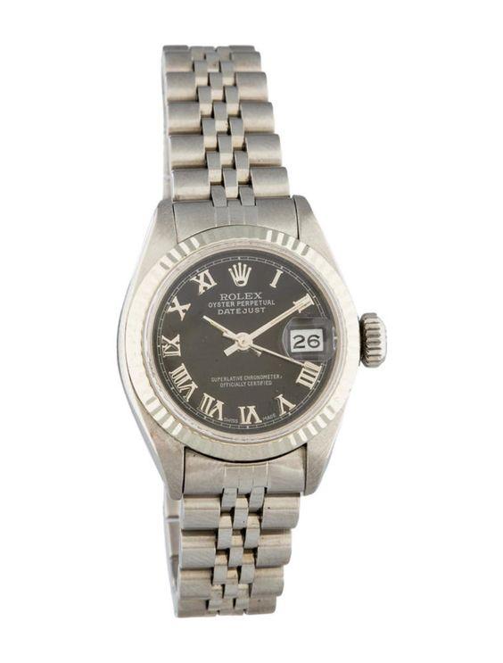Rolex Datejust Black Dial Ladies' Watch