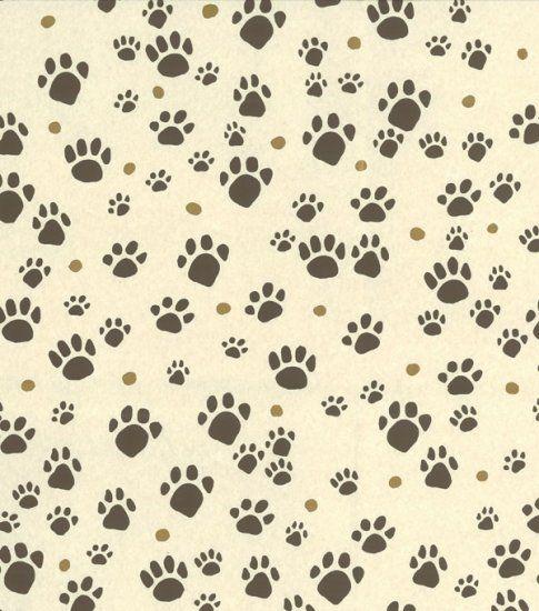 Paw prints peter fasano i might find similar pins on - Dog print wallpaper ...