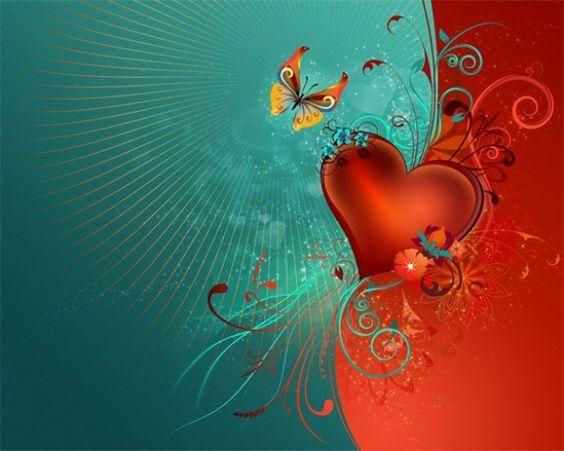 Valentine Heart Butterfly Vector Background - http://www.welovesolo.com/valentine-heart-butterfly-vector-background/
