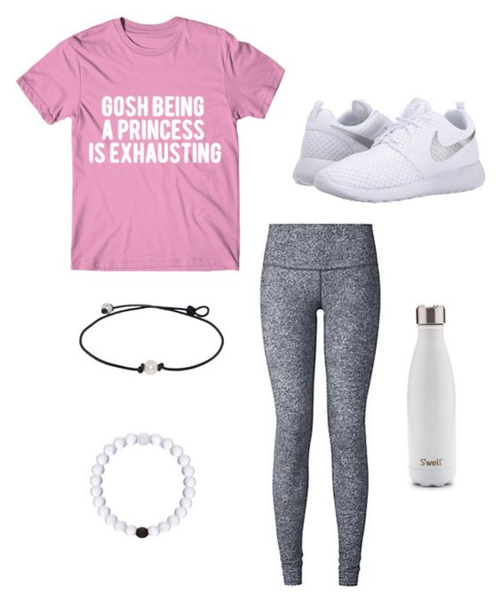 """I Love Leggings..."" by katelynb28 on Polyvore featuring lululemon and NIKE"