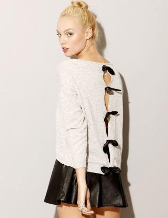 Bow peep sweater // sudadera espalda abierta con lazos