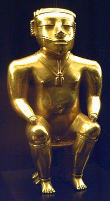 La quimbaya fue una etnia y cultura indígena colombiana famosa por su producción de piezas de oro de alta calidad y belleza.