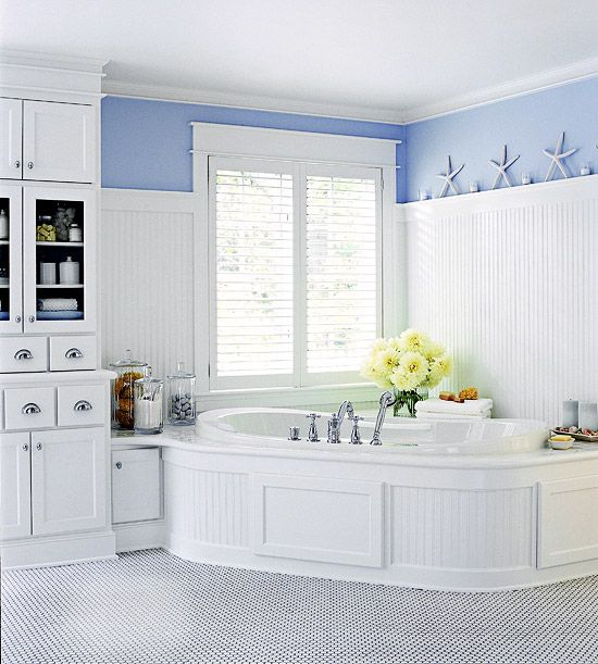 Built Ins, Countertops And Corner Bath On Pinterest